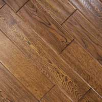 Johnson Distressed Plank Oak Hand Scraped Derby Teak 5x.75in